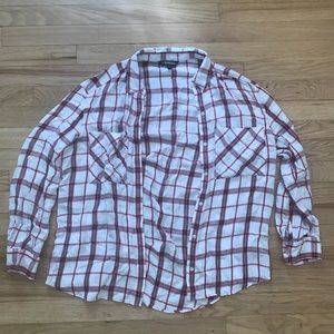 Oversized White Express Flannel